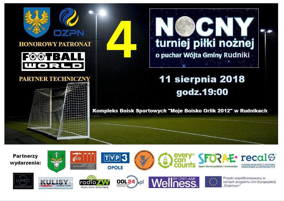 4 Nocny Turniej Piłki Nożnej o Puchar Wójta Gminy Rudniki