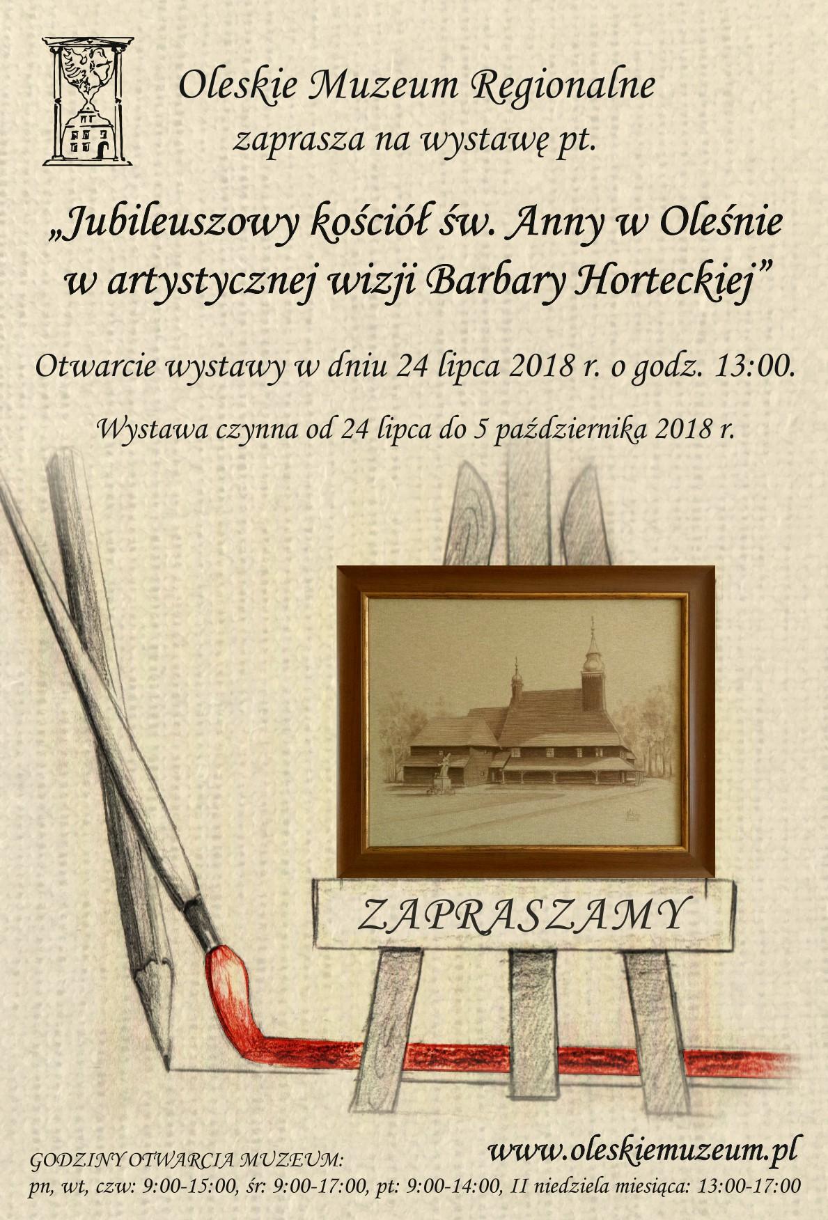 Jubileuszowy kościół św. Anny w Oleśnie w artystycznej wizji Barbary Horteckiej – Muzeum Olesno