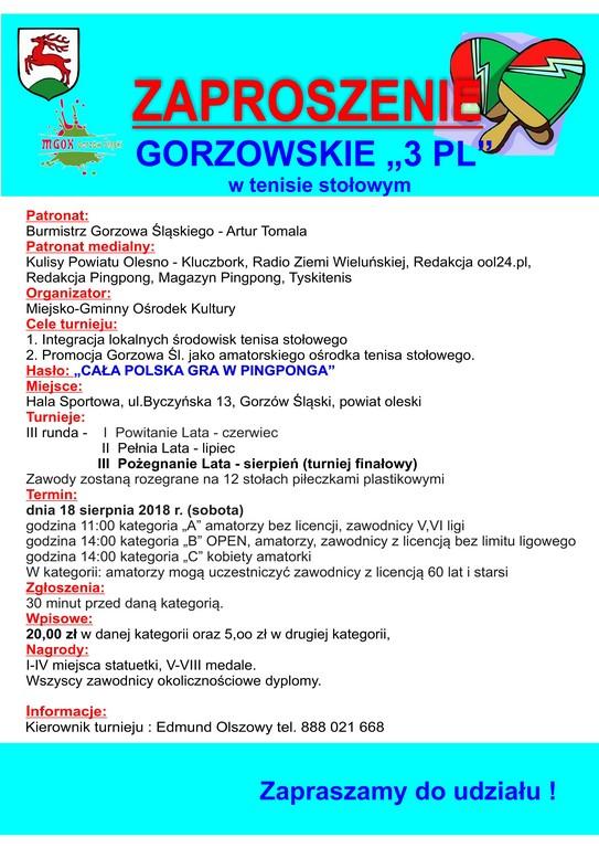 Gorzowskie 3 PL – turniej finałowy