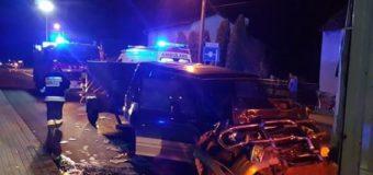 Samochód terenowy uderzył w tył ciężarówki. Cztery osoby poszkodowane