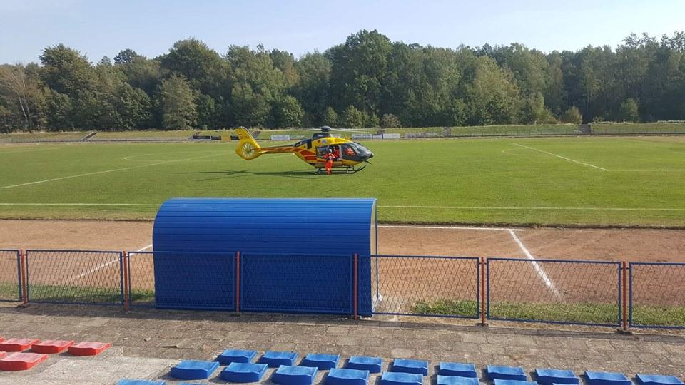 Piłkarz Start-u Dobrodzień przetransportowany z meczu śmigłowcem do szpitala