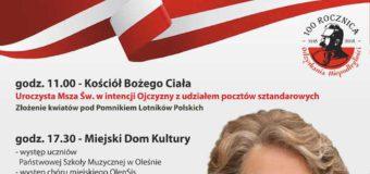 Koncert Ireny Santor – Narodowe Święto niepodległości – Olesno