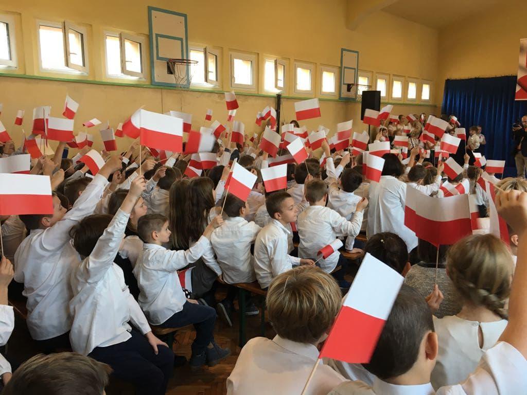 """100-lecie odzyskania niepodległości obchodzone w oleskiej """"Trójce"""""""