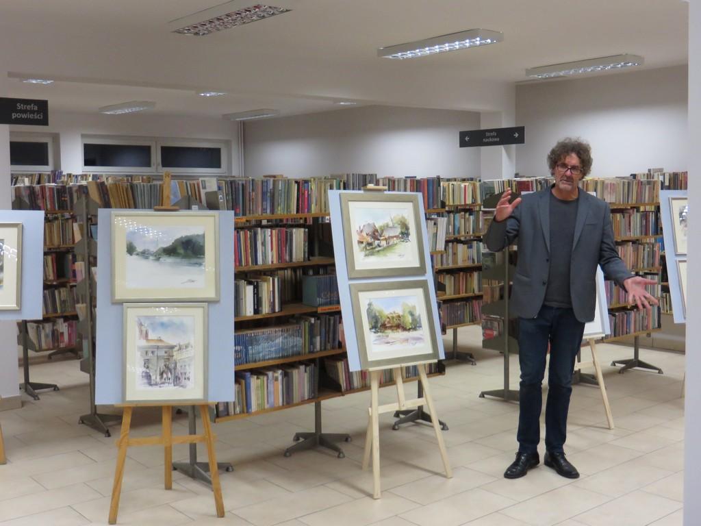 Wystawa Stanisława Pokorskiego w oleskiej bibliotece