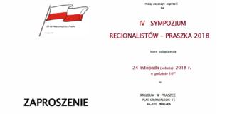 IV Sympozjum Regionalistów – Praszka