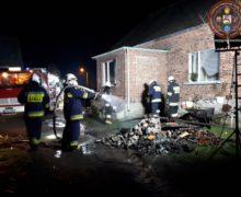 Pożar piwnicy w Kozłowicach