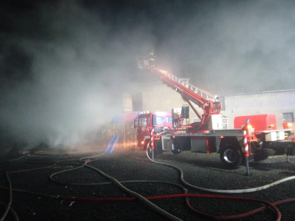 Pożar budynku gospodarczego w Oleśnie