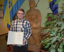Szeroko uzdolniony stypendysta z ZSZ Olesno – Kamil Chwalczyk