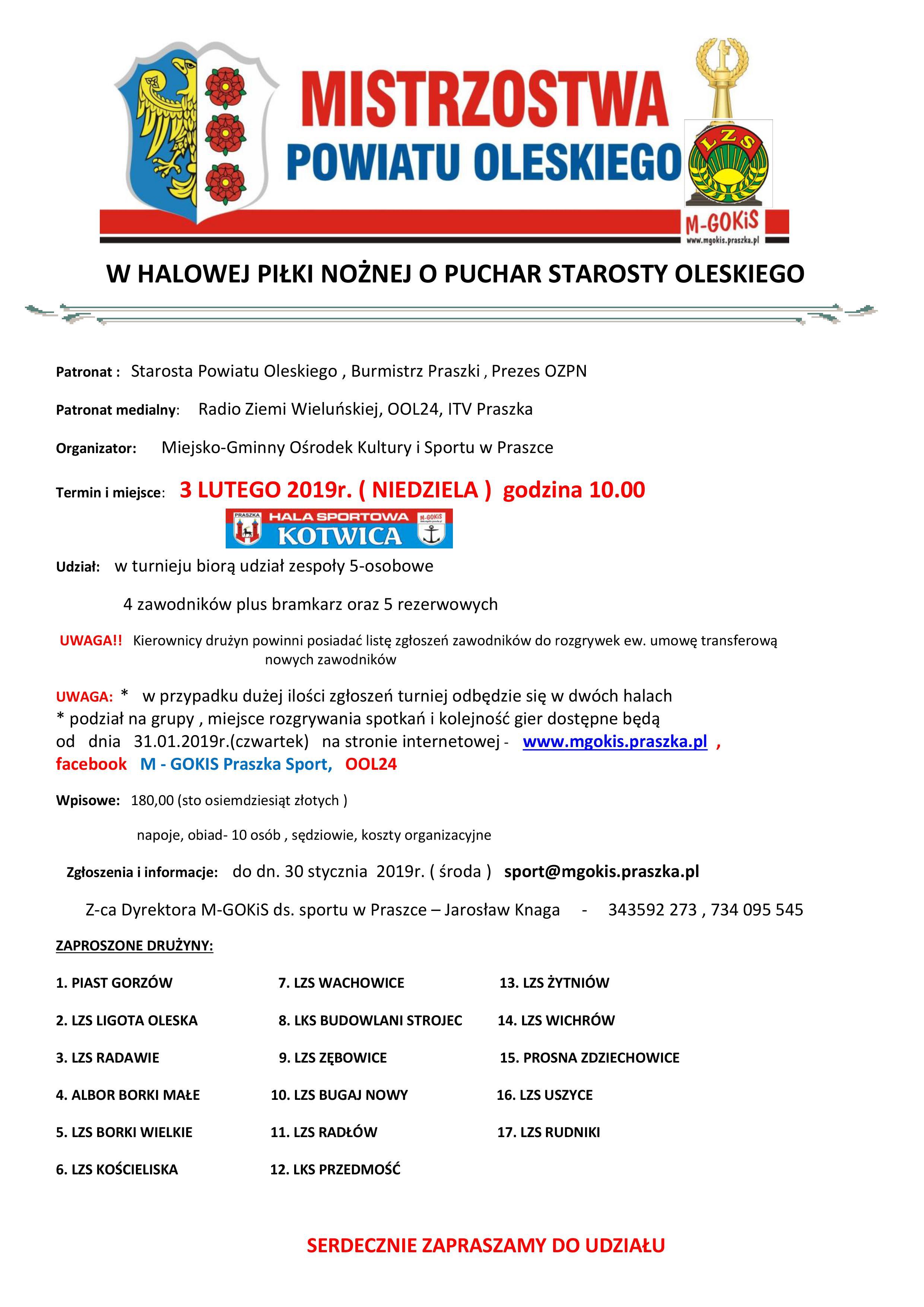 Mistrzostwa Powiatu Oleskiego – LZS