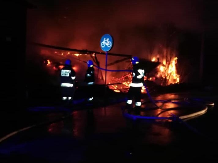 W Jaworznie doszczętnie spłonęła stodoła