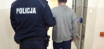 Policjanci z Dobrodzienia zatrzymali podejrzanego o kradzieże
