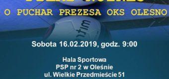 Halowy Turniej Piłki Nożnej o Puchar Prezesa OKS Olesno