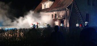 Pożar budynku jednorodzinnego w Bodzanowicach