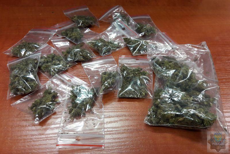 19-latek z marihuaną zatrzymany w centrum Olesna