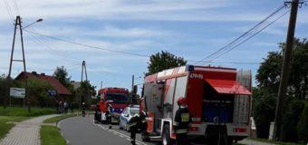 Wypadek w Radłowie. Kierujący motocyklem zabrany śmigłowcem do szpitala