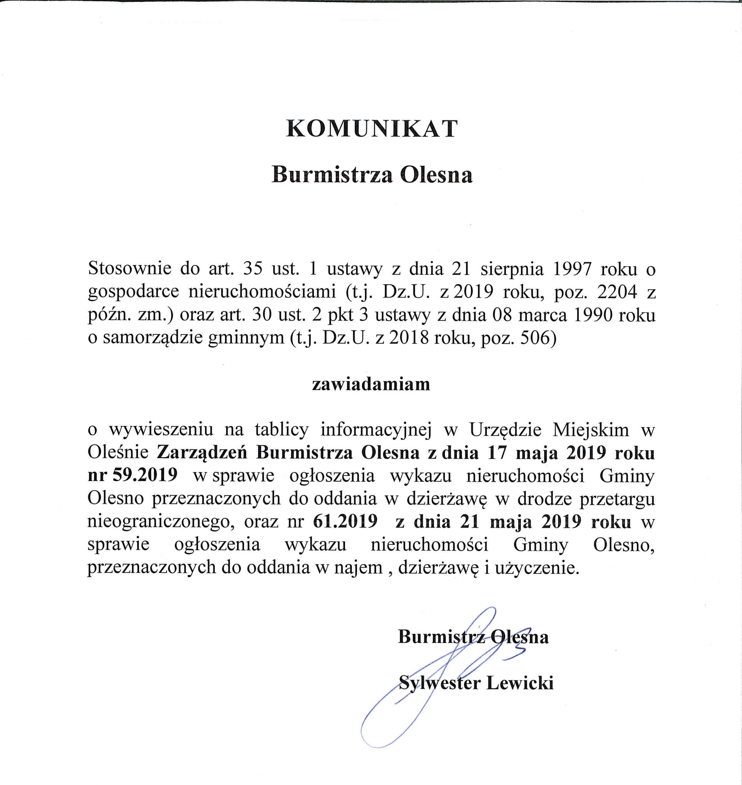 komunikat_burmistrza