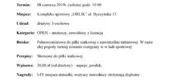 Turniej Trójek Siatkarskich z okazji Dni Gorzowa Śląskiego