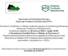 Powiatowy Urząd Pracy w Oleśnie zaprasza na konferencję poświęcona Krajowemu Funduszowi Szkoleniowemu