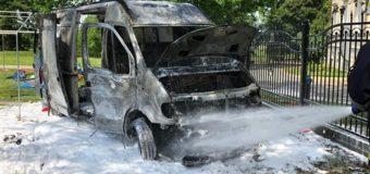 Pożar samochodu dostawczego w Pawłowicach
