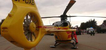 12-letni rowerzysta potrącony w Dobrodzieniu. W akcji śmigłowiec