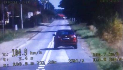 104 km/h w terenie zabudowanym. 20-latek stracił prawo jazdy
