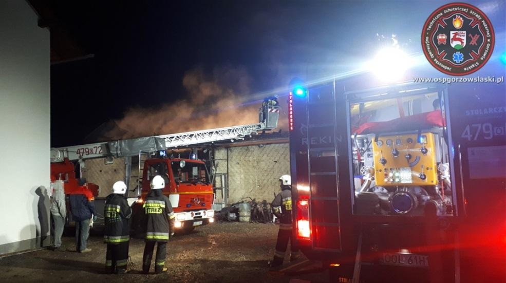 Pożar budynku gospodarczego w Gołej. Spore straty