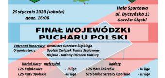 Finał Wojewódzki Pucharu Polski w tenisie stołowym – Gorzów Śląski