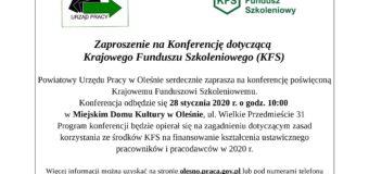 Konferencja dotycząca Krajowego Funduszu Szkoleniowego – Olesno