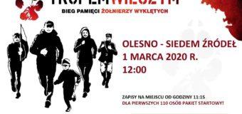 Już w niedzielę w Oleśnie Bieg Pamięci Żołnierzy Wyklętych – Tropem Wilczym