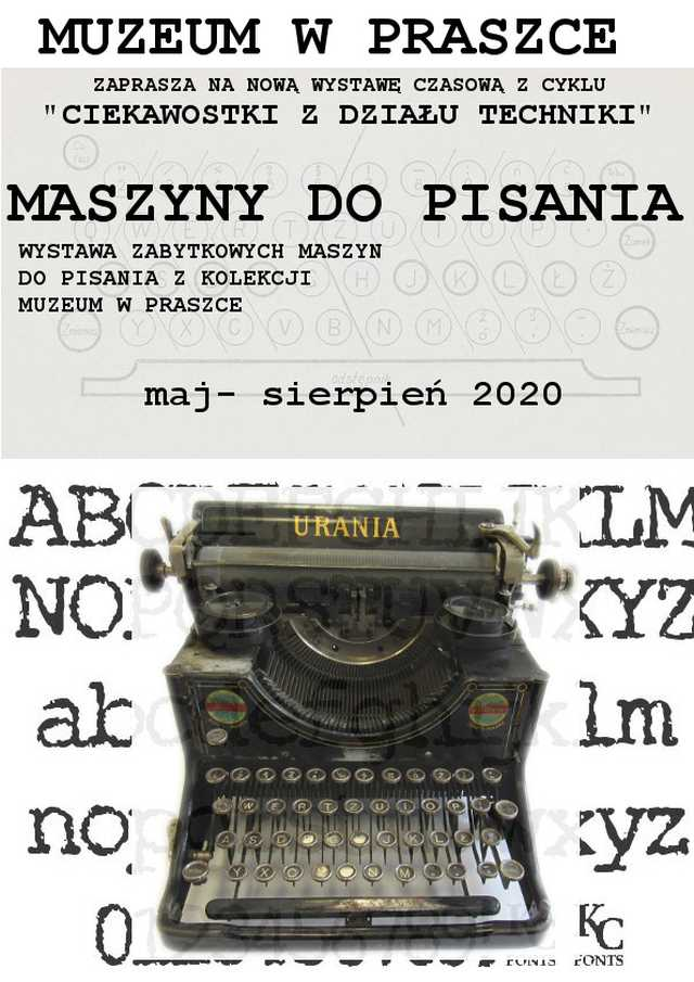 Maszyny do Pisania – Muzeum w Praszce