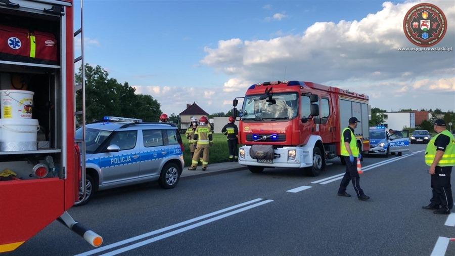 Wypadek motocyklisty w Gorzowie Śląskim