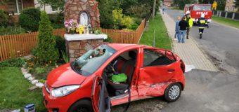 Wypadek dwóch samochodów w Cieciułowie