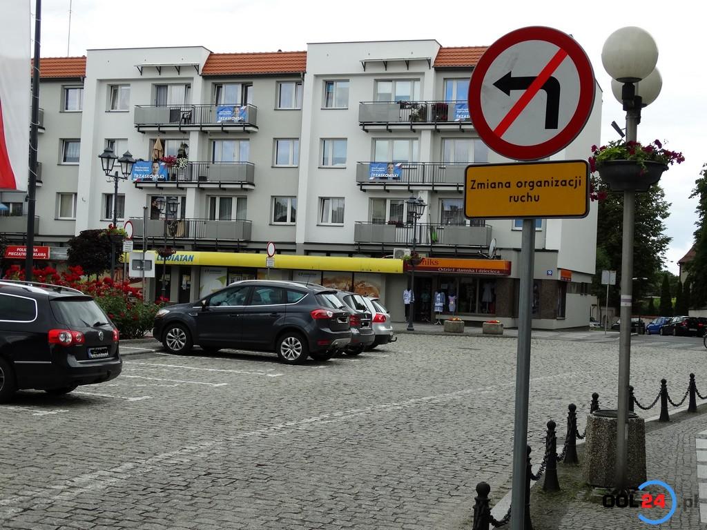 Oleski rynek częściowo zamknięty dla pojazdów