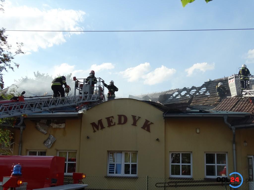 Pożar przychodni lekarskiej w Praszce