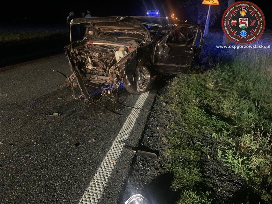 Dwie osoby poszkodowane po wypadku w Gorzowie Śląskim