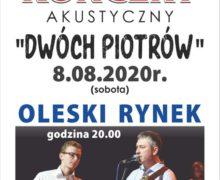 """Koncert akustyczny """"Dwóch Piotrów"""" – Olesno"""