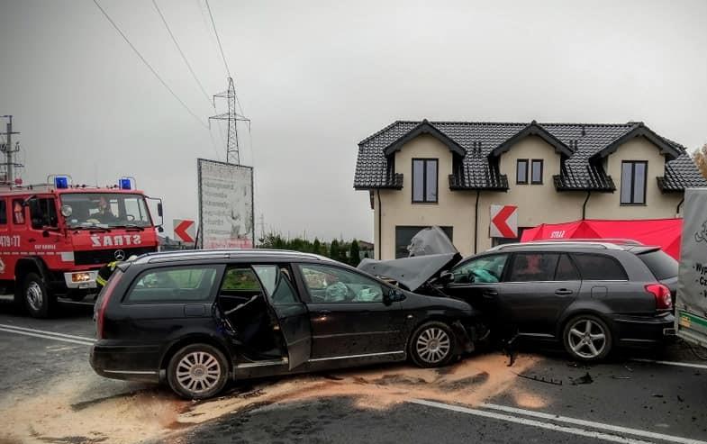 Wypadek na DK 45 w Kowalach
