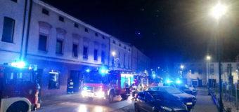 Nocny pożar w centrum Dobrodzienia