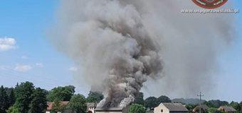 Pożar budynku gospodarczego w Nowej Wsi