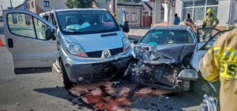 Wypadek w centrum Praszki