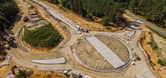 Zaawansowanie prac przy budowie obwodnicy Praszki i Gorzowa Śląskiego na poziomie 40 procent