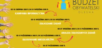 Gmina Olesno czeka na propozycje zadań do Budżetu Obywatelskiego 2022!