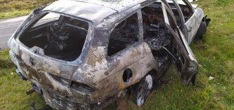 W miejscowości Łąka spłonął samochód